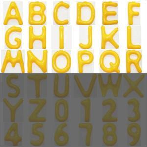 英語(英字)POPバルーン 黄 [A〜Rからお選び下さい](※S〜Zは別ページ) / アルファベット バルーン 風船  [動画有]|event-ya