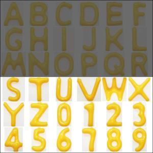 英語(英字)POPバルーン 黄 [S〜Z・0〜9からお選び下さい](※A〜Rは別ページ) / アルファベット バルーン 風船  [動画有]|event-ya