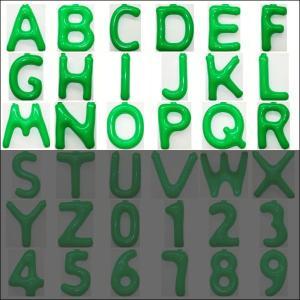英語(英字)POPバルーン 緑 [A〜Rからお選び下さい](※S〜Zは別ページ) / アルファベット バルーン 風船  [動画有]|event-ya