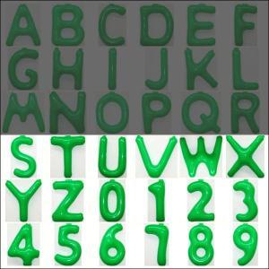 英語(英字)POPバルーン 緑 [S〜Z・0〜9からお選び下さい](※A〜Rは別ページ) / アルファベット バルーン 風船  [動画有]|event-ya
