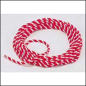 紅白ロープ・紅白ひも 直径6mm 長さ10m|event-ya