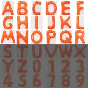 英語(英字)POPバルーン 橙 [A〜Rからお選び下さい](※S〜Zは別ページ) / アルファベット バルーン 風船  [動画有]|event-ya