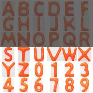 英語(英字)POPバルーン 橙 [S〜Z・0〜9からお選び下さい](※A〜Rは別ページ) / アルファベット バルーン 風船  [動画有]|event-ya