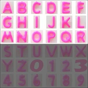 英語(英字)POPバルーン 桃 [A〜Rからお選び下さい](※S〜Zは別ページ) / アルファベット バルーン 風船  [動画有]|event-ya