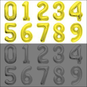 数字POPバルーン 金 (0〜9からお選び下さい) 【アルファベット バルーン 風船】|event-ya