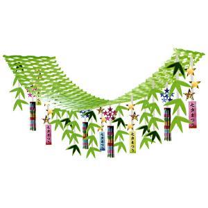 七夕装飾 緑の七夕笹ハンガー L180cm /店内装飾 飾り 店舗ディスプレイ|event-ya
