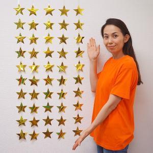 七夕装飾 ゴールド星ストレートライン5本セット L105cm / 飾り ディスプレイ/動画有|event-ya