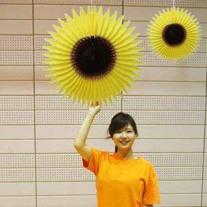 夏装飾 ひまわりハニカム 大小2個セット|event-ya