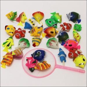 水に浮くすくい用おもちゃ ぷかぷかプラスチック熱帯魚(100ヶ)/ 水のおもちゃ すくい用品 お祭り景品 縁日  [動画有]|event-ya