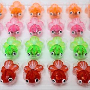 水に浮くすくい用おもちゃ ぷかぷかすこし大きめで光るソフト金魚 24個|event-ya