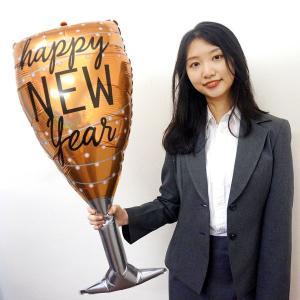 正月装飾バルーン NEWYEARシャンパングラス H85cm/メール便5枚まで可|event-ya
