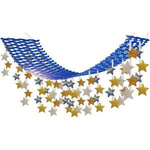 七夕 星空4色プリーツハンガー L180cm / たなばた 装飾 飾り ディスプレイ|event-ya