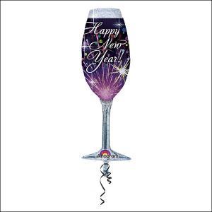 装飾バルーン シャンパンニューイヤー (※ヘリウムガス・空気は入っていません。)|event-ya