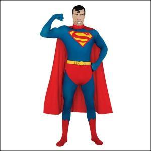ハロウィンコスチューム スーパーマンセカンドスキンスーツ Superman 2nd Skin Suit/アニメ コスプレ メンズ|event-ya