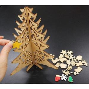 木製お絵かきクリスマスツリー作成キット 10個|event-ya