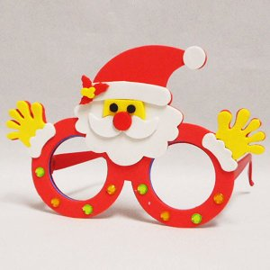 クリスマスメガネ工作キット サンタクロース 10個|event-ya