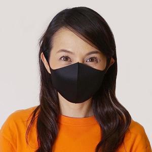 ひんやり冷感マスク(大人用) 3枚入り ブラック / 夏用 立体マスク 洗える 耳が痛くならない クールマスク 繰り返し使える 花粉 風邪 /メール便可/動画有|event-ya