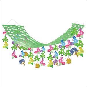夏装飾 朝顔蚊取ぶたプリーツハンガー L180cm / あさがお 飾り付け ディスプレイ|event-ya