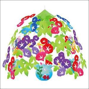 夏装飾 朝顔・金魚・うちわセンター W60cm / あさがお 飾り付け ディスプレイ|event-ya