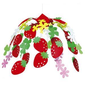 イチゴ装飾 いちごセンター H45cm×W50cm / 飾り ディスプレイ 春 苺|event-ya
