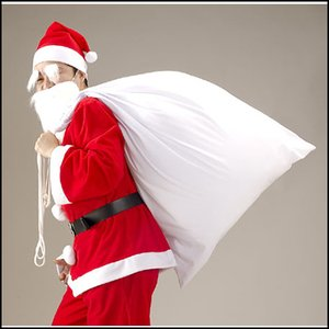 サンタクロースの袋(サンタさんの大きな袋) 綿100% 110×80cm【サンタコスチューム・コスプレ・クリスマス衣装】|event-ya