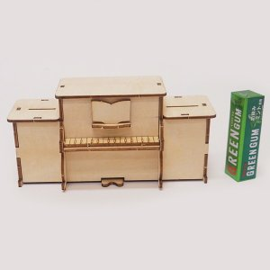 木製工作キット お絵かきピアノ貯金箱のオルゴール|event-ya