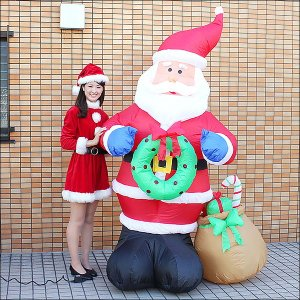 クリスマスエアブロー装飾 サンタ H260cm / ディスプレイ エアブロウ / 動画有|event-ya