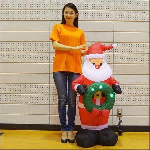 [限定半額特価]¥12000→¥6000クリスマスエアブロー装飾 LEDサンタ H120cm / ディスプレイ エアブロウ/ 動画有|event-ya