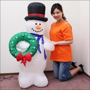 クリスマスエアブロー装飾 LEDスノーマン H120cm / ディスプレイ エアブロウ 雪だるま [動画有]|event-ya