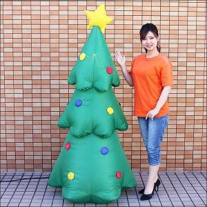 クリスマスエアブロー装飾 ディスコライト ツリー H180cm / ディスプレイ エアブロウ [動画有]|event-ya
