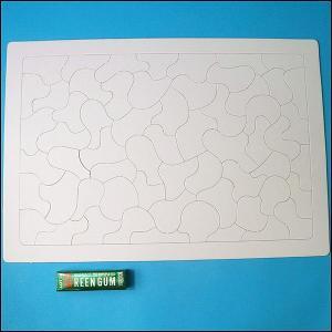 お絵描きジグソーパズル・白いジグソーパズル (37.5cm×26cm) 60ピース/絵を描いてプレゼント 記念品 /動画有|event-ya