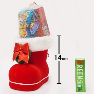 サンタお菓子ブーツ 10個 ブーツ高14cm / クリスマス プレゼント 景品|event-ya
