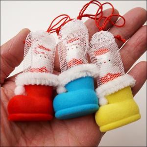サンタミニブーツ チョコボール入 200個 ブーツ高3cm / クリスマス プレゼント 景品|event-ya