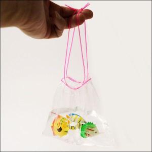 金魚すくい持ち帰り用袋(100枚入り) 二重紐 [金魚すくい・スーパーボールすくい]|event-ya