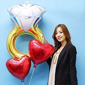 【結婚祝い】ウエディングバルーンギフト ウエディングリング [大型商品160cm以上]|event-ya