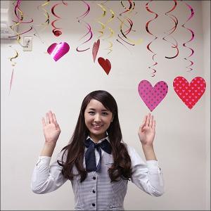 バレンタイン装飾 くるくるハート飾り(12本入り)/ 動画有|event-ya