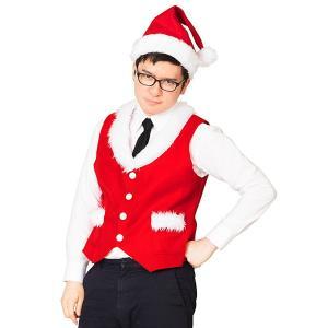 クリスマスコスチューム サンタベストセット|event-ya