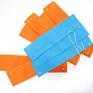 [処分特価] カラー腕章 9枚セット(オレンジ+水色)|event-ya