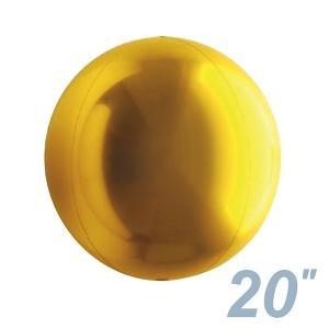 まん丸い風船 直径50cm ゴールド/金 / バルーン|event-ya