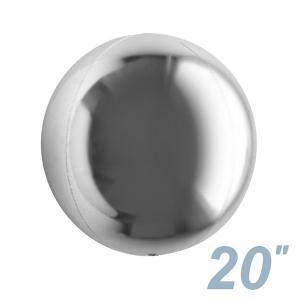 まん丸い風船 直径50cm シルバー/銀 / バルーン|event-ya