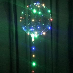 LEDで光る丸いクリア風船キット / バルーン/動画有|event-ya