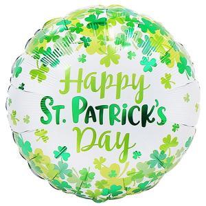 セントパトリックスデー風船 シャムロックコンフェティ 45cm 5枚組 /バルーン 3月17日 アイルランド 緑のもの 飾り 装飾 シャムロック 三つ葉/メール便可 event-ya