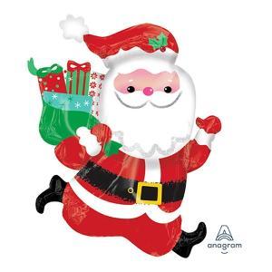 クリスマス装飾風船 走るサンタ 高さ76cm/ 動画有/バルーン 飾り デコレーション/メール便可|event-ya