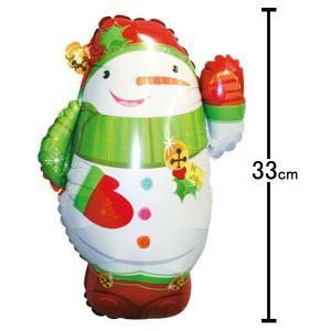 クリスマス装飾風船 ジョリースノーマン 高さ45cm/ 動画有/バルーン 飾り デコレーション/メール便可|event-ya