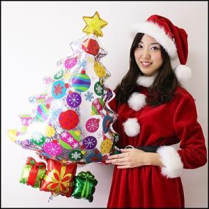 クリスマス装飾風船 ホログラフクリスマスツリー 高さ83cm/ 動画有/バルーン 飾り デコレーション/メール便可|event-ya