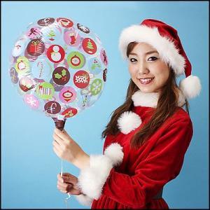 クリスマス装飾 ゴム風船 サンタ・トナカイ風船セット(ポンプ・棒付) 50枚|event-ya