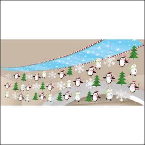 Xmas クリスマス天井デコレーション ジョイフルスノーマン 【装飾・ディスプレイ・飾り】|event-ya