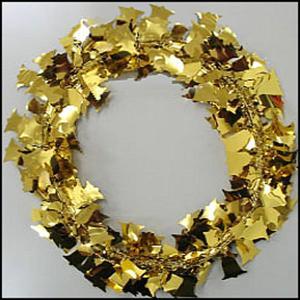 装飾用ワイヤーガーランド ゴールドベル 750cm【クリスマス・ディスプレイ・飾り】|event-ya