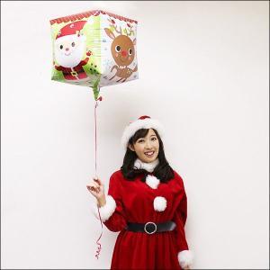 クリスマス風船 キューブキャラクターズ/ 動画有/バルーン 飾り デコレーション/メール便可|event-ya