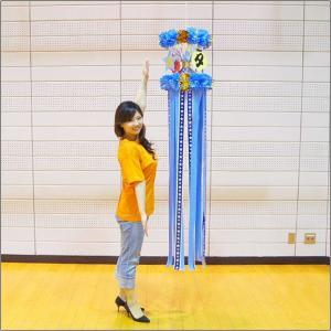 七夕 1尺ホロスター七夕吹流し(175cm) ブルー / 吹き流し 装飾 飾り|event-ya